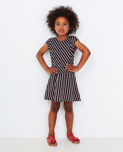Schwarzes gestreiftes Kleid